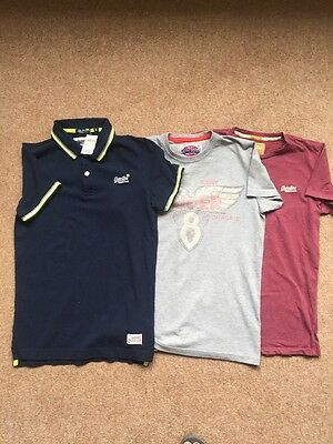 mens superdry t shirts X3 Size S.