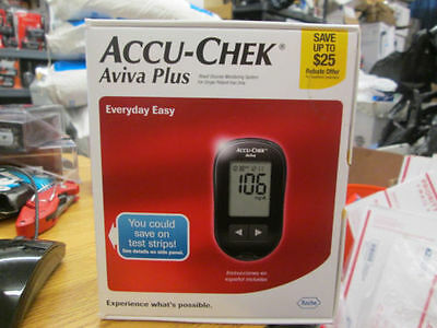 Accu-Chek Aviva Plus Blood Glucose Monitoring System New