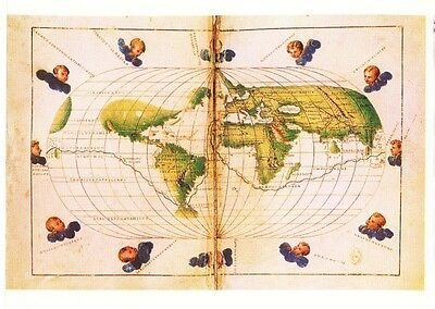 Mappemonde De Battista Agnese - Très Belle Reproduction Exclusive Rare Neuve