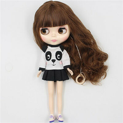"12"" Neo Blythe Doll Brown Hair Nude Blythe Doll from Factory JSK01"