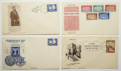 Lot Enveloppes Premier Jour Israel 1948-1949 Theodor Herzl - First Day Cover
