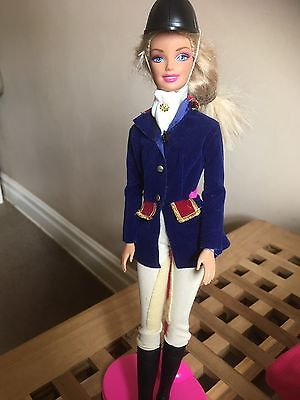 Barbie Doll With Horse Riding Outfit Vintage