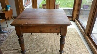 Antique Pitch Pine Table