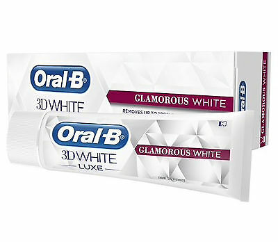 Oral-B 3D Whitening Toothpaste White Luxe GLAMOROUS WHITE Stains Removal NEW