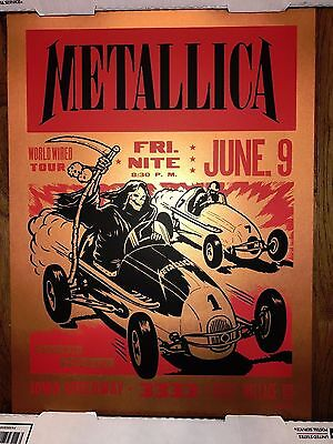 2017 Metallica Art Print Poster Ames Bros Signed 70/70 Copper Variant Iowa