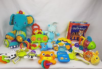 baby bundle of  toys.  Bright star elephant and buggy toy . Rattles.Little takes