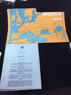 1950 American Express Travel Service Personalized European Itinerary With Map