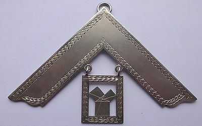 Masonic Solid Silver Past Masters Collar Jewel 1910 - 11