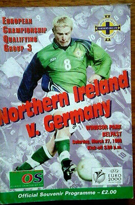 Northern Ireland V Germany 27/3/1999 Euro Championship