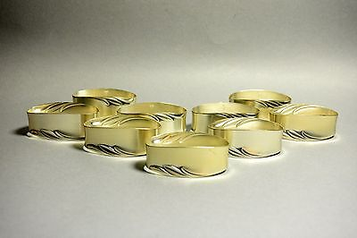 Lot of 9 Vintage WMF E.P. BRASS Germany Silver Plated Napkin Ring Holders
