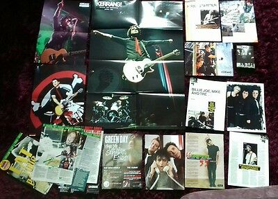 Job lot of Green Day posters and cuttings. Punk. Rancid