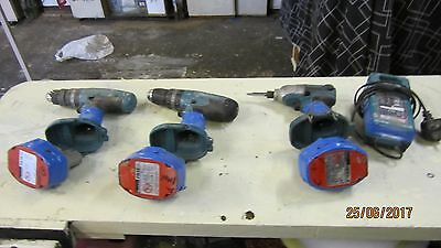 2 makita  cordless drills  1 makita impact driver + charger + 3  free batteries