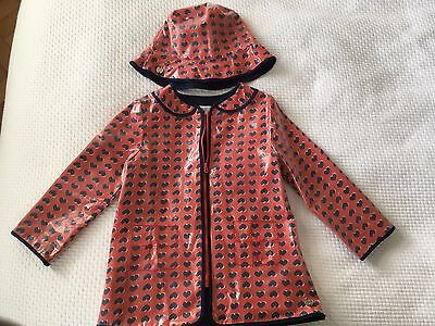 Little Marc Jacobs Girls Raincoat with Hat Size 3 Yrs
