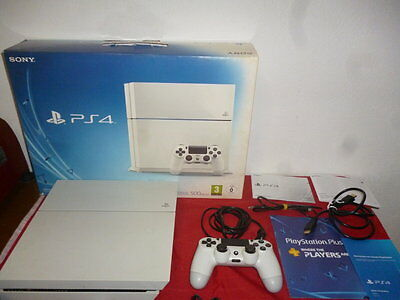 Ps4 Console 500Gb Playstation 4 Bianca Sony