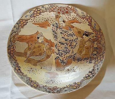 Japanese Satsuma vintage Victorian Meiji period oriental antique charger plate