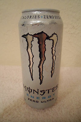 Monster Energy Zero Ultra Collectible 16oz. Drink Can New Designer Advertising!