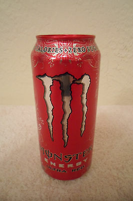 Monster Energy Ultra Red Collectible 16oz. Drink Can New Designer Advertising