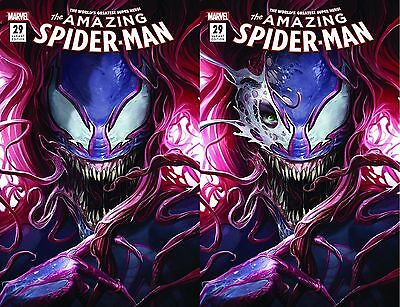 Amazing Spider-Man 29 Mattina Mary Jane Venom Open Eye Full Mask Variant Set Hot
