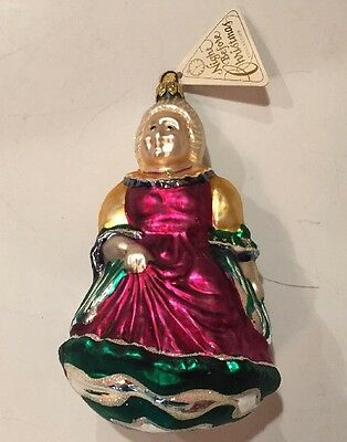 Department 56 A Christmas Carol Mrs. Fezziwig Mouth-Blown Glass Ornament