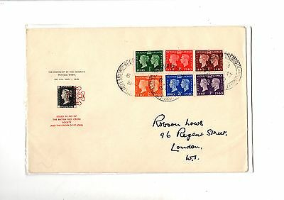 GB 1940 Stamp Centenary Robson Lowe Red Cross FDC with Bournemouth Cancel