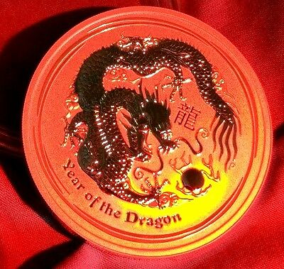 2012 Year of the Dragon Silver 5 oz Coin