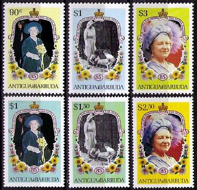 ANTIGUA & BARBUDA ~ 1985 • QEII Queen Mother Issue «MNH» sg#946/948 & Extras