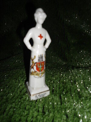 Willow Art Crested China WW1 Nurse 'A Friend In Need' - CITY OF NOTTINGHAM crest