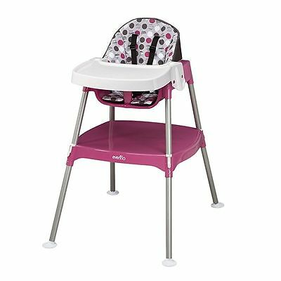 Evenflo Convertible High Chair, Dottie Rose Baby Feeding High Chairs Mommy Relax