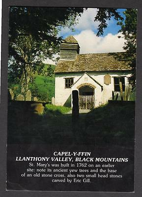 """""""CAPEL-Y-FFIN, LLANTHONY VALLEY, BLACK MOUNTAINS """"  Postcard Wales  Breconshire"""