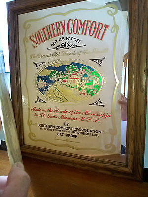 VTG SOUTHERN COMFORT Bar Mirror Sign by MARSEL MIRROR Style BM-106