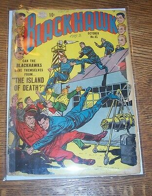 Blackhawk #45 Quality Comics 1954 Silver Age Complete Lower Grade!!