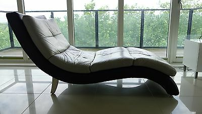 DFS Chaise Lounge chair (Real leather) GREAT CONDITION