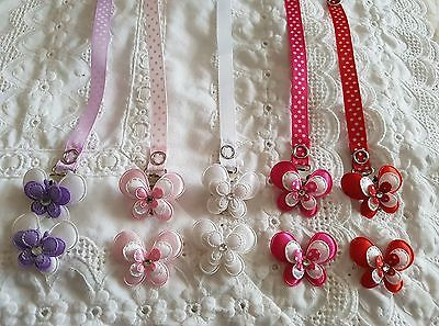 Stunning Reborn Baby Doll~ Butterfly~ Magnetic ~Dummy Clip ~Hair Accessory