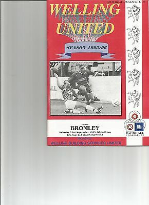 Welling Utd  V Bromley   Fa Cup 2Nd Qualifying Round   23/09/1995
