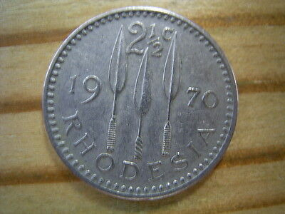 1970  Rhodesia 2 1/2 cents Coin Collectable