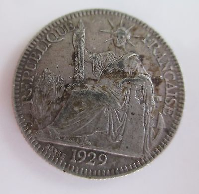 FRENCH INDO CHINA silver 10 CENT 1929