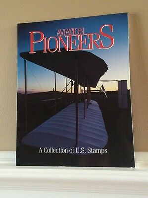 Aviation Pioneers U.S. Commemorative Stamps Softcover Book~New-Protective Folder