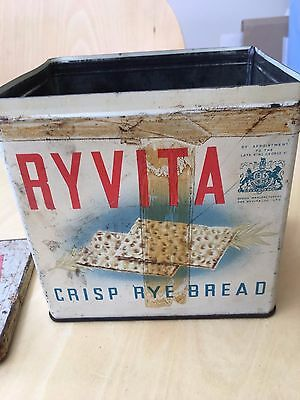 vintage Ryvita tin from the 1960s collectable retro