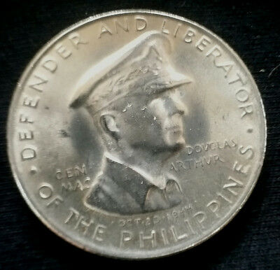 1947-S Philippines General MacArthur 50 Centavos Silver Coin