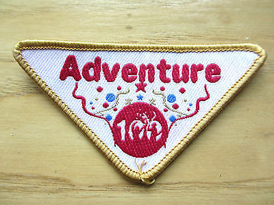 New - Girguiding Badge / Patch - Adventure 100 - Triangular Girl Guide Collector
