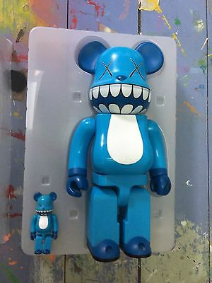 kaws 400 % and 100% chompers bearbrick