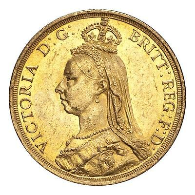 Great Britain Victoria Gold Coin 1887 Gold 2 Pounds