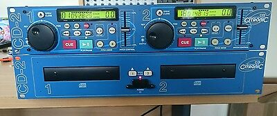 Citronic CD-2 Twin DJ CD PLAYERS in excellent condition