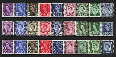 "1958-70 Great Britain Set Of ""wilding"" Regional Definitive Stamps, Mnh"