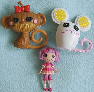 LALALOOPSY Small Size DOLL & 2 Doll PETS - Monkey & Mouse