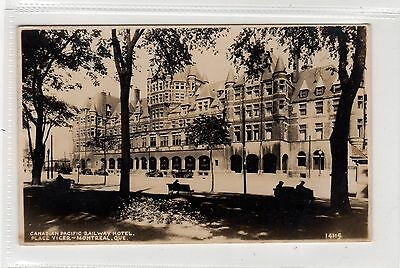 CANADIAN PACIFIC RAILWAY HOTEL, PLACE VIGER, MONTREAL: Quebec postcard (C29029)