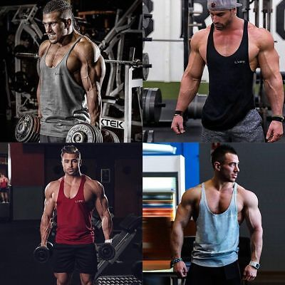 Men Muscle Training Stringer Singlet T Shirt Top Sport Gym Cycling Running Vest