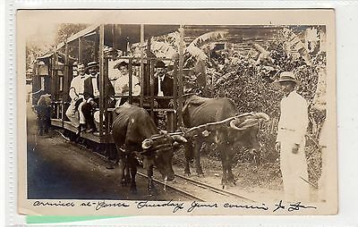 Picture postcard of a tram by a Ponce Porto Rico photographer (C29049)
