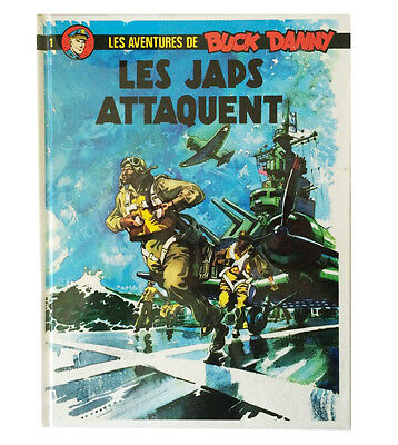 BD BUCK DANNY n°1 Les japs attaquent + tiré + poster - Charlier & Hubinon - TBE