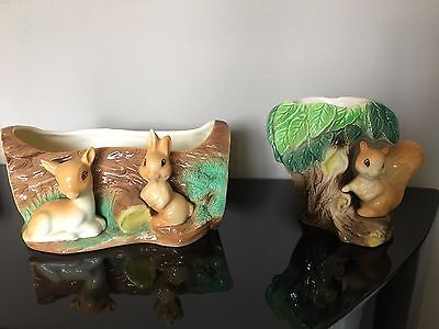 Royal Hornsea Pottery Fauna Collection Squirrel Rabbit Deer